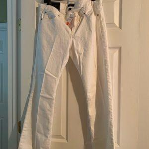 Banana Republic White Bootcut Jeans